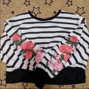Rose Cropped Sweatshirt